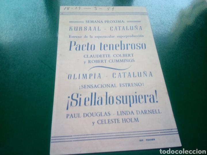 Cine: Programa de cine simple. Pacto tenebroso . Cines Olimpia y Cataluña de Manresa - Foto 2 - 197195722