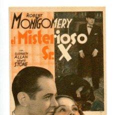 Cine: EL MISTERIOSO SR. X, CON ROBERT MONTGOMERY.. Lote 197213882