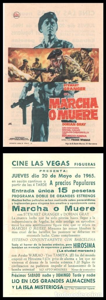 FOLLETO DE MANO, MARCHA O MUERE, STEWART GRANGER. (Cine - Folletos de Mano - Bélicas)