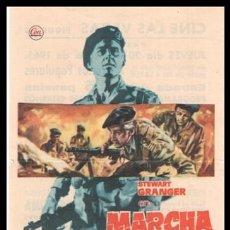 Cine: FOLLETO DE MANO, MARCHA O MUERE, STEWART GRANGER.. Lote 197214880