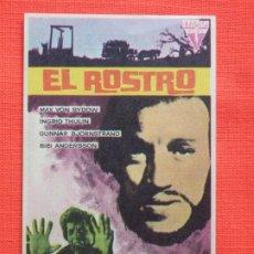 Cine: EL ROSTRO, IMPECABLE SENCILLO ORIGINAL, MAX VON SYDOW INGRID THULIN, CON PUBLI ALCAZAR. Lote 197226957