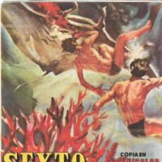Folhetos de mão de filmes antigos de cinema: PROGRAMA DE CINE - SEXTO CONTINENTE - COLISEO LUCENA (LUCENA, CÓRDOBA) - 1956.. Lote 257501855