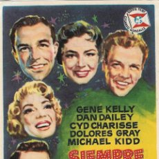 Foglietti di film di film antichi di cinema: PROGRAMA DE CINE - SIEMPRE HACE BUEN TIEMPO - GENE KELLY, CYD CHARISSE - GRAN ALBENIZ (MÁLAGA) 1961. Lote 197362801