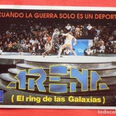Cine: ARENA EL RING DE LAS GALAXIAS, PEGATINA CB FILMS VIDEO, 14X10 CMS. IMPECABLE.. Lote 197413965