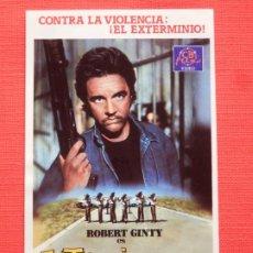 Cine: EXTERMINADOR IV, PEGATINA CB FILMS VIDEO, 8X13 CMS., IMPECABLE. Lote 197414471