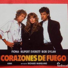 Cine: CORAZONES DE FUEGO, PEGATINA TROQUELADA, BOB DYLAN, 12X11 CMS. IMPECABLE.. Lote 197415227