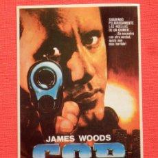 Cine: COP CON LA LEY O SIN ELLA, JAMES WOODS, PEGATINA CB FILMS VIDEO, 8X13 CMS.IMPECABLE. Lote 197416372