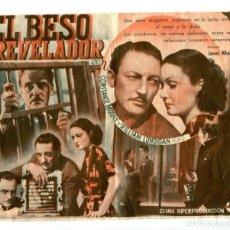 Cine: EL BESO REVELADOR, CON WARREN WILLIAM.. Lote 197427811