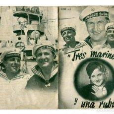 Cine: TRES MARINEROS Y UNA RUBIA, DE CARL BOESE. Lote 197439435