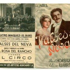 Cine: VALSES DEL NEVA, CON ELISA ILLIARD.. Lote 197442637