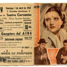 Cine: LA VIDA ES SABROSA, CON KAY FRANCIS.. Lote 197450803
