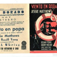 Cine: VIENTO EN POPA, CON ROLAND YOUNG.. Lote 197451602