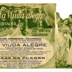 Cine: LA VIUDA ALEGRE, CON MAURICE CHEVALIER.. Lote 197454065