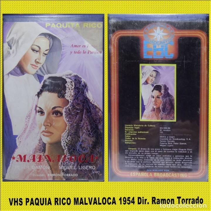 MALVALOCA EN VHS CON PAQUITA RICO (Cine - Folletos de Mano - Infantil)