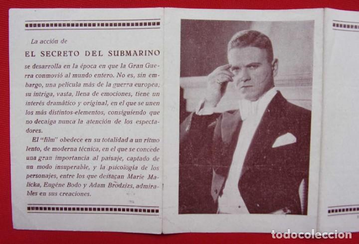 Cine: PROGRAMA CUADRUPLE. EL SECRETO DEL SUBMARINO. AÑOS 30. - Foto 4 - 197802695