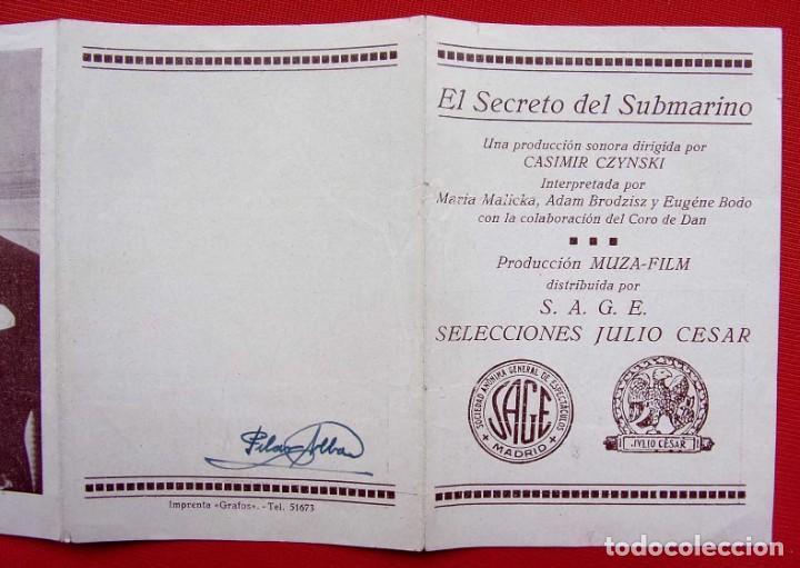 Cine: PROGRAMA CUADRUPLE. EL SECRETO DEL SUBMARINO. AÑOS 30. - Foto 5 - 197802695