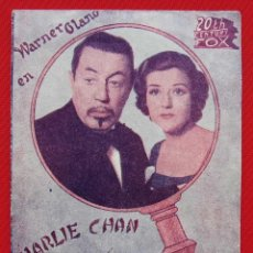 Cine: PROGRAMA DOBLE. EN LA PISTA. CHARLIE CHAN. 20 TH CENTURY FOX. WARNER OLAND. . Lote 197806277
