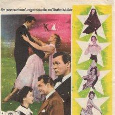 Flyers Publicitaires de films Anciens: PROGRAMA DE CINE - EL AMOR NACIÓ EN PARÍS - KATHRYN GRAYSON, HOWARD KEEL - CINE VICTORIA (MÁLAGA) . Lote 197897466