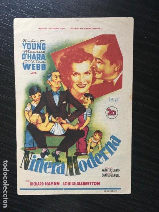 NIÑERA MODERNA - PROGRAMA DE CINE BADALONA C/P 1950 (Cine - Folletos de Mano - Comedia)