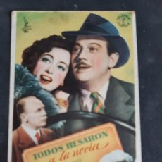 Cine: PROGRAMA CINE DE MANO. TODOS BESARON A LA NOVIA... M. DOUGLAS... J. CRAW. COLISEO ALBIA. SESTAO 1946. Lote 197950972