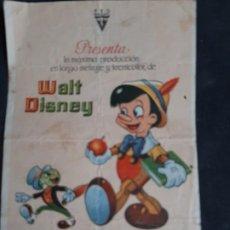 Cine: PINOCHO DE WALT DISNEY. CINE FANTASIO. AÑOS 40. Lote 197952027