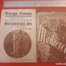 Cine: MADRESELVA, MÁLAGA CINEMA.. Lote 198050797
