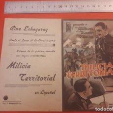Cine: MILICIA TERRITORIAL. ECHEGARAY MÁLAGA. 1942.. Lote 198051081
