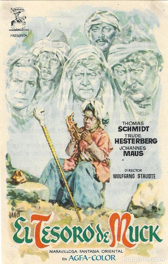 PROGRAMA DE CINE - EL TESORO DE MUCK - THOMAS SCHDMIDT - JANO - CINE ALKAZAR (MÁLAGA) 1953 (Cine - Folletos de Mano - Infantil)