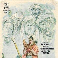 Cine: PROGRAMA DE CINE - EL TESORO DE MUCK - THOMAS SCHDMIDT - JANO - CINE ALKAZAR (MÁLAGA) 1953. Lote 198144531