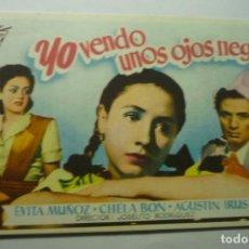 Flyers Publicitaires de films Anciens: PROGRAMA YO VENDO UNOS OJOS NEGROS.- EVITA MUÑOZ. Lote 198155366