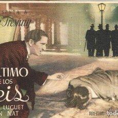 Foglietti di film di film antichi di cinema: PROGRAMA DE CINE - EL ÚLTIMO DE LOS SEIS - PIERRE FRESNAY, ANDRÉ LUGUET - CINE PLUS ULTRA (MÁLAGA). Lote 198217421