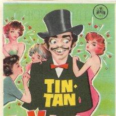 Cine: PROGRAMA DE CINE - EL VIVIDOR - TIN-TAN - TEATRO PRINCIPAL (MÁLAGA) - 1960.. Lote 198237006