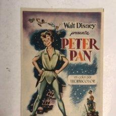 Cine: CINE SABOYA CASTELLÓN. PETER PAN, WALT DISNEY. FOLLETO DE MANO (A.1954). Lote 198248537