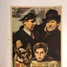 Cine: CINE CAPITOL CASTELLÓN. RIN - TIN - TIN, EL RAYO DEL TERROR, FOLLETO DE MANO (A.1947). Lote 198252315