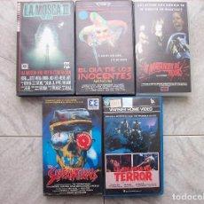 Cine: LOTE 5 TITULOS VHS LA MATANZA DE TEXAS -THE SUPERNATURALS. Lote 198325926