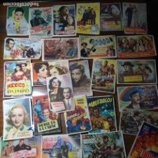 Cine: LOTE DE 240 PROGRAMAS DE MANO, TODO TIPO DE PELICULAS, VER FOTOS. . Lote 198468943
