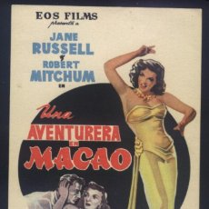Cine: P-8643- UNA AVENTURA EN MACAO (ROBERT MITCHUM - JANE RUSSELL - WILLIAM BENDIX - THOMAS GOMEZ). Lote 198498392