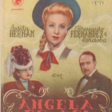 Folhetos de mão de filmes antigos de cinema: PROGRAMA DOBLE DE ÁNGELA ES ASÍ (1945), CON JOSITA HERNÁN Y FERNANDO FERNÁNDEZ DE CÓRDOBA. Lote 198510955
