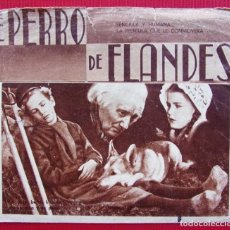 Cine: PROGRAMA DOBLE. EL PERRO DE FLANDES. AÑO: 1937. GRAN TEATRO. BURGOS. FRANKIE THOMAS.. Lote 198517840
