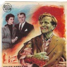 Cine: PROGRAMA DE CINE - EL EXPERIMENTO DEL DOCTOR QUATERMASS - BRIAN DONLEVY - TEATRO CERVANTES (MÁLAGA). Lote 198518486