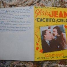 Cine: GLORIA JEAN PROGRAMA DOBLE DE LA PELÍCULA CACHITO DE CIELO. Lote 198599971