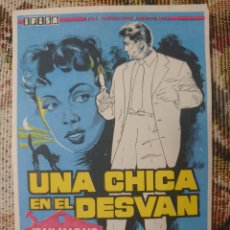 Cine: JEAN MARAIS PROGRAMA DE MANO DE LA PELÍCULA UNA CHICA EN EL DESVAN. Lote 198600211