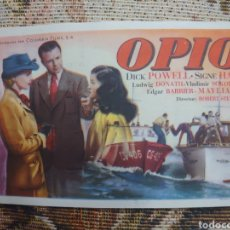 Cine: DICK POWELL PROGRAMA DE MANO DE LA PELÍCULA OPIO. Lote 198600392