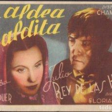 Flyers Publicitaires de films Anciens: PROGRAMA SENCILLO DE LA ALDEA MALDITA (1942), CON FLORENCIA BÉCQUER Y JULIO REY DE LAS HERAS. Lote 198604101