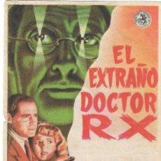 Cine: PROGRAMA DE CINE - EL EXTRAÑO DOCTOR RX - PATRIC KNOWLES - CINE CAPITOL, DUQUE Y PLUS ULTRA (MÁLAGA). Lote 198624920