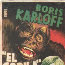 Cine: PROGRAMA DE CINE - EL GORILA - BORIS KARLOFF - CINE ALKAZAR (MÁLAGA) - 1945.. Lote 198639407