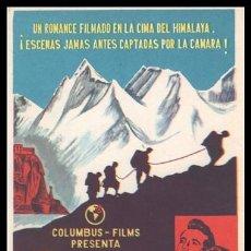 Cine: FOLLETO DE MANO, TORMENTA SOBRE EL TIBET, REX REASON Y DIANA DOUGLAS.. Lote 198730502