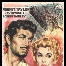 Cine: FOLLETO DE MANO, AVENTURAS DE QUINTIN DURWARD, ROBERT TAYLOR, KAY KENDALL Y ROBERT MORLEY.. Lote 198732236