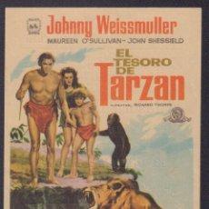 Cine: PROGRAMA SENCILLO DE EL TESORO DE TARZÁN (1941) - CASAL PARROQUIAL DE MOLLERUSSA. Lote 198733475