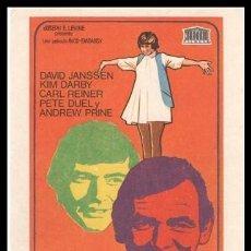 Cine: FOLLETO DE MANO, GENERACION REBELDE, DAVID JANSSEN, KIM DARBY, CARL REINER Y PETE DUEL.. Lote 198737256